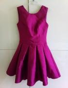 Sukienka fioletowa błyszcząca xs wesele...