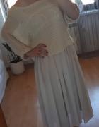 beżowa sukienka ze sweterkiem...