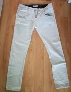 Spodnie Lee 42 L białe lato rurki jak nowe...
