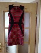 Sukienka w kratkę Rozmiar 34