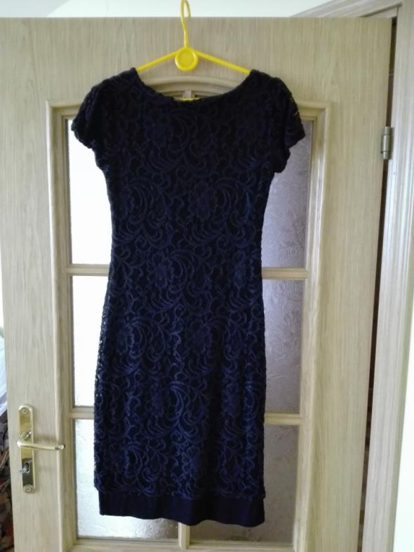 Suknie i sukienki Elegancka czarna koronkowa wieczorowa sukienka Rozmiar 36
