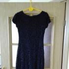 Elegancka czarna koronkowa wieczorowa sukienka Rozmiar 36