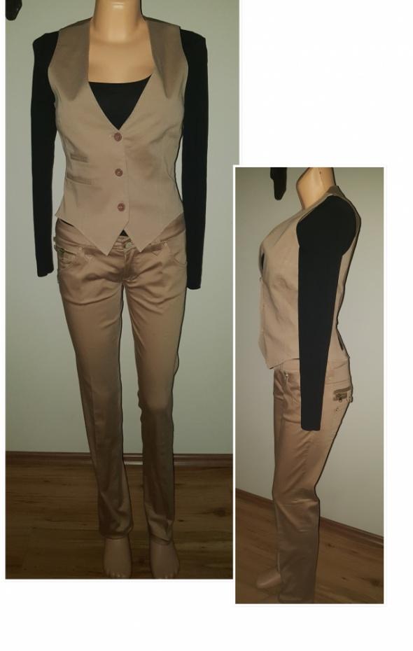 Damski elegancki komplet garnitur na kant