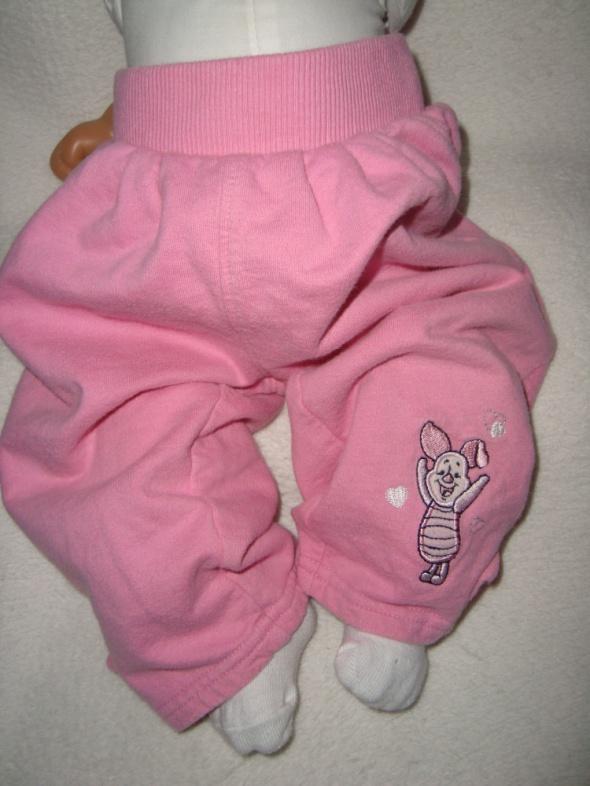 Dresy Disney różowe spodnie dresowe roz 9 12 msc