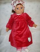HM Hello Kitty czerwona welurowa sukienka roz 6 9...