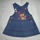 Disney sukienka jeansowa roz 0 3 msc