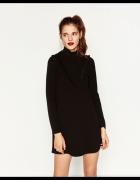 Nowa czarna sukienka ze stójką Zara M...