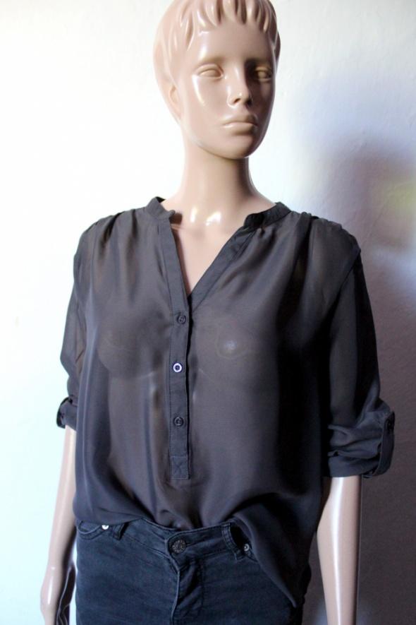 Elegancka szara bluzeczka koszula mgiełka r S...