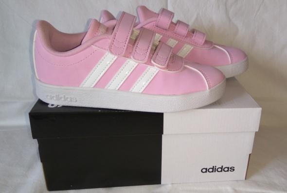 Nowe różowe adidasy na rzepy dziewczęce Adidas VL Court 2 0 Cmf...
