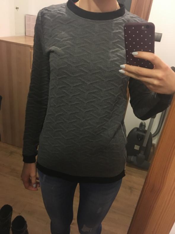 Szara bluza z zamkami Sinsay rozmiar XS