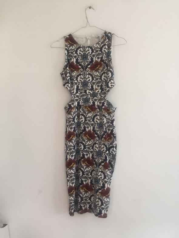 Suknie i sukienki piękna sukienka amisu wycięcia na biodrach