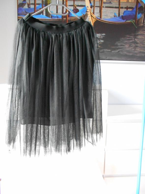 Tiulowa spódnica S M tiulówka czarna