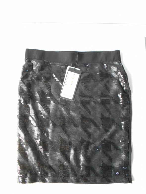 Spódnica z cekinową pepitką NewYorker XS nowa