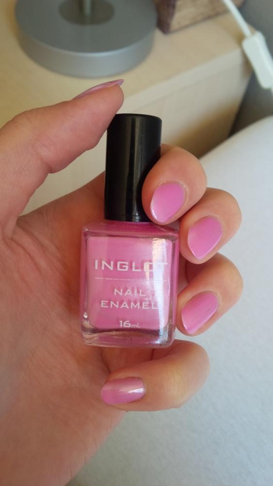 Różowy Inglot...
