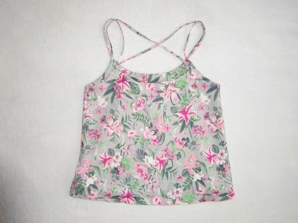 C&A nowa bluzka top szara w kwiaty 36 S...