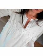 Biała koszula z perełkamiVarlesca