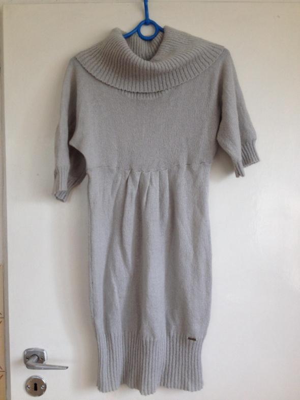 Big Star sweter sukienka golf szary oversize S M L 36 38 40...