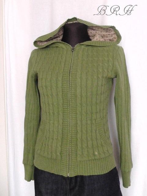 sweter z kapturem zielony White Stuff...