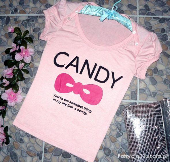 CANDY słodki różowy cukierek z bufkami