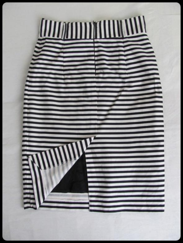 SIMPLE spódnica ołówkowa w paski z podszewką 38 M w Spódnice