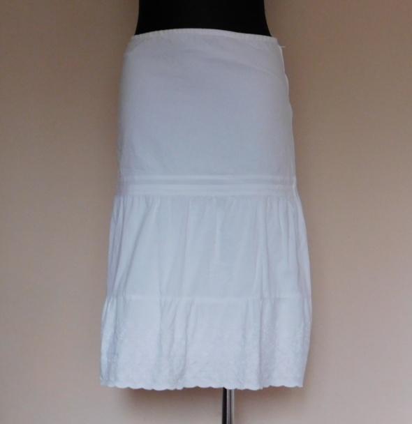Topshop biała spódnica midi haft 36 38...