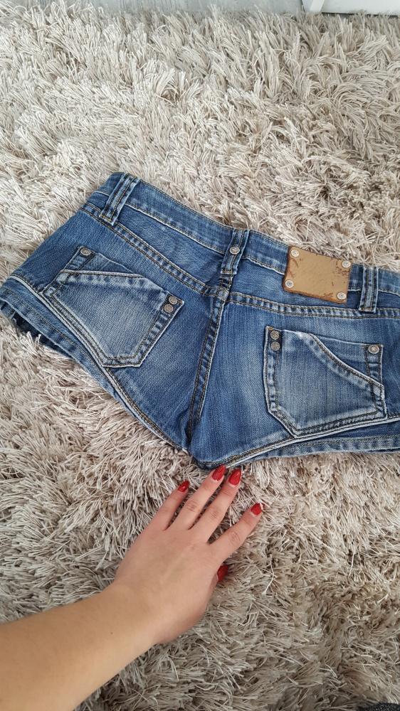 krótkie spodenki jeans sexy 34