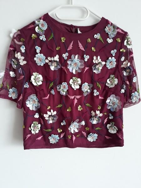 bluzka w kwiatki crop top...