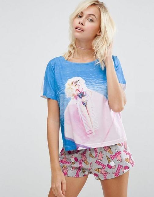 Barbie ASOS piżama XS 34 komplet Mattel z metką...