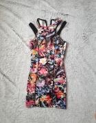 sukienka w kwiaty Bershka xs...