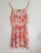 Kwiecista sukienka Amisu na ramiączkach...