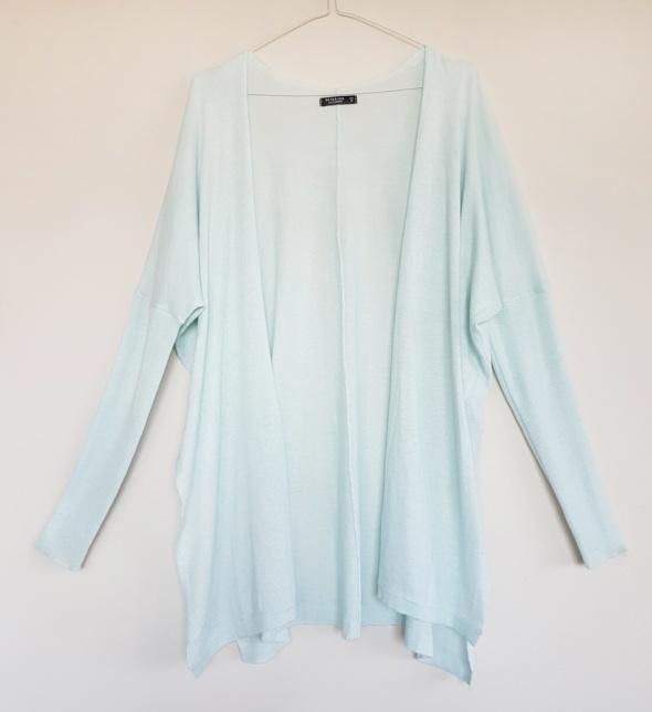 Miętowy sweterek narzutka Reserved oversize S 36