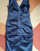 Sukienka ołówkowa granatowa r 38
