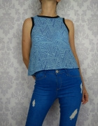 Krótka bluzka bez rękawów top Neon Rose...