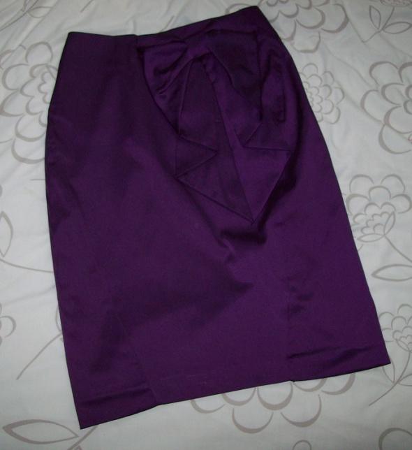 Spódnice H&M Spódnica ołówkowa 36 S fiolet