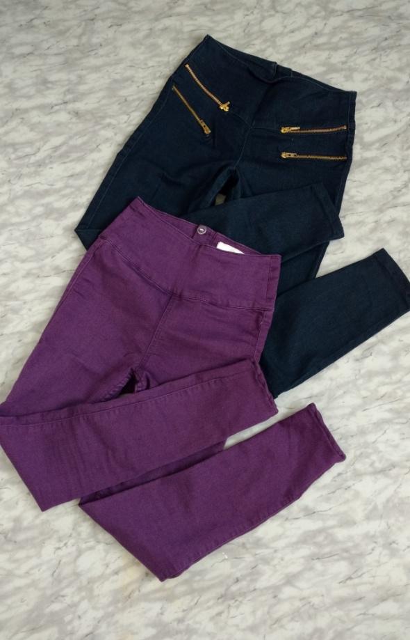 Spodnie tregginsy Pieces wysoki stan XXs XS dla niskiej