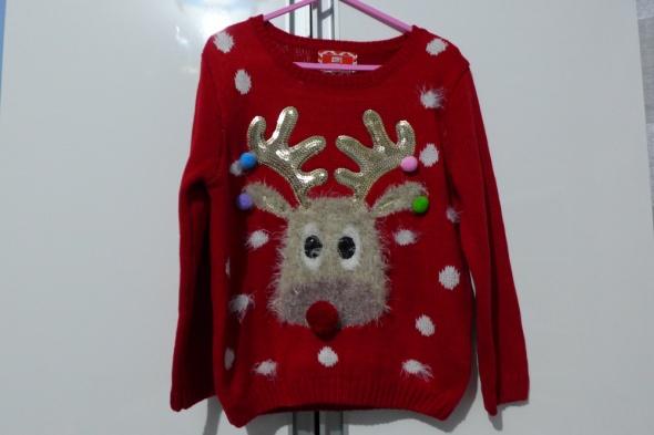 Świąteczny sweterek rozm 110116 Young Dimension...