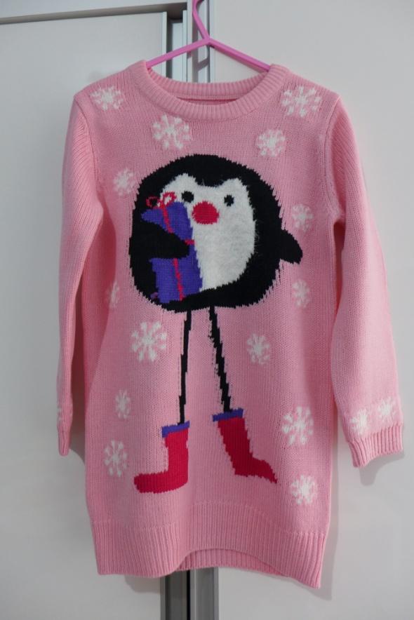 Śliczny świąteczny sweterek tunika Dunnes Stores rozm 110