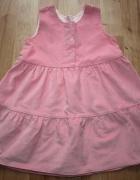 Różowa sukienka rozm 86...