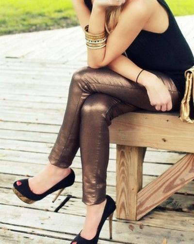 metaliczne złote miedziane rurki H&M