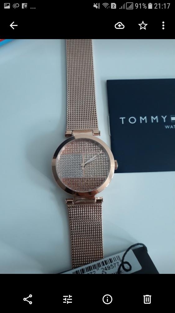 Zegarek Tommy Hilfiger różowe złoto nowy
