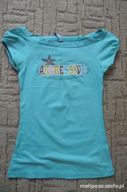 Miętowy tshirt