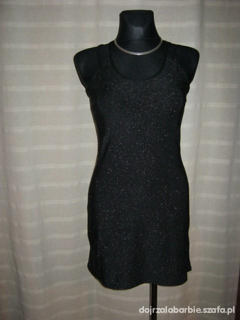 Suknie i sukienki MAŁA CZARNA NA PODWÓJNYCH RAMIACZKACH 12