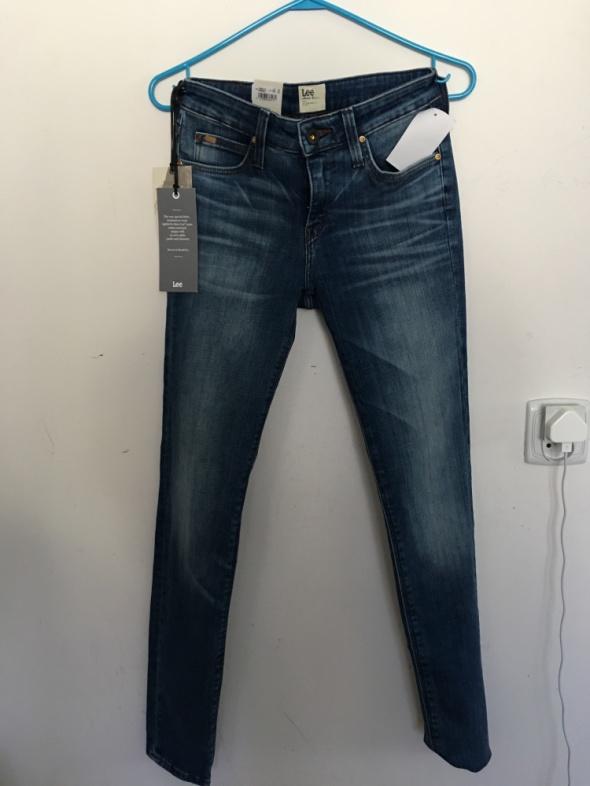 Lee cieniowane jeansy 26 33 rurki...