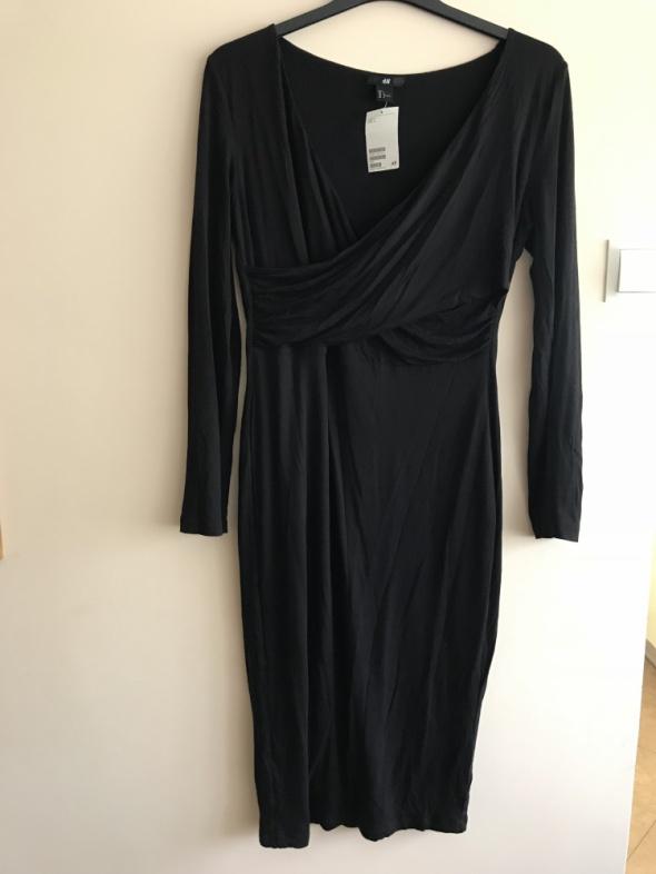 Suknie i sukienki H&M elegancka mała czarna sukienka NOWA z metką