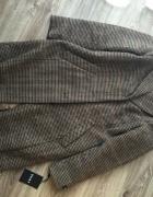 DKNY Donna Karan nowy brązowy płaszczyk pepitka krata z metką r...