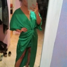 Sukienka Asos asymetryczna 36 38 zielona kimono