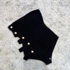 Czarny kostium z wycięciami 36 38