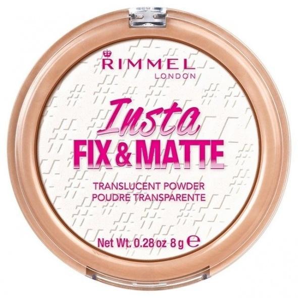 PUDER RIMMEL INSTA FIX MATTE 001 TRANSPARENTNY 8g