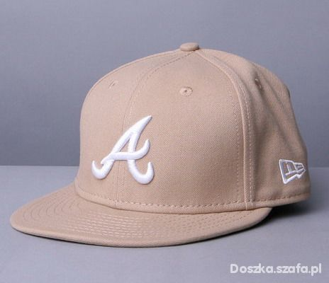FULL CAP NEW ERA ATLANTA BEŻOWY NOWY...