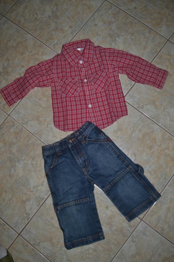 Komplet 74cm 80cm koszula spodnie